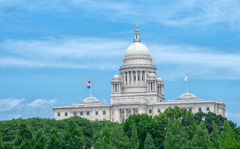资本上帝的罗德岛州状态议院 美国 免版税图库摄影