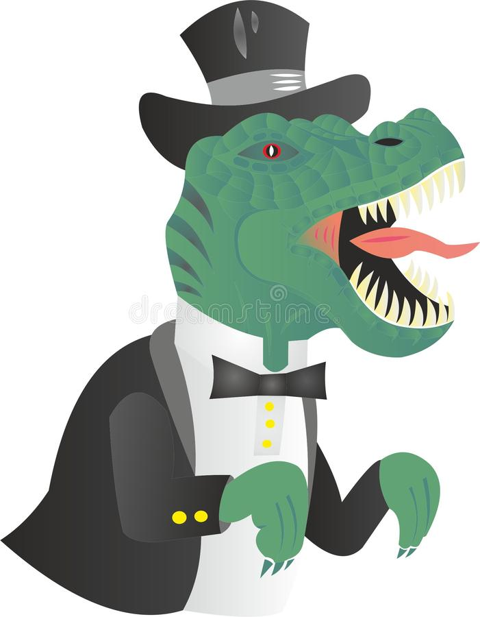 资本主义规则Thernosaurs  库存例证