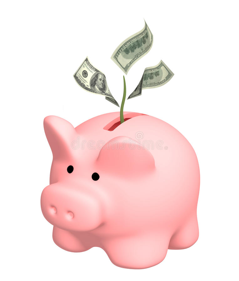 资本增长 免版税库存图片