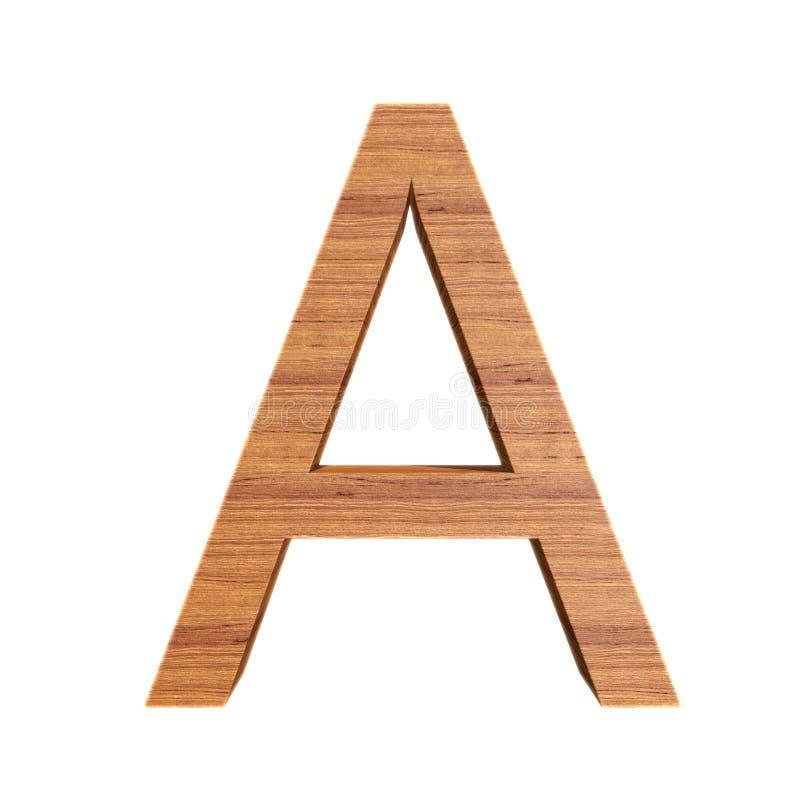 资本木信件A,被隔绝在白色背景 库存例证