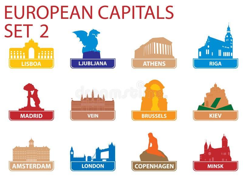 资本欧洲符号 皇族释放例证