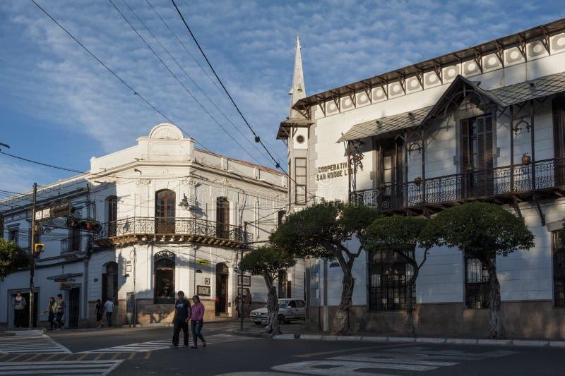 资本殖民地市玻利维亚-南美 免版税库存照片