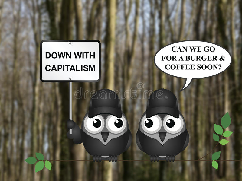 资本主义示范 皇族释放例证