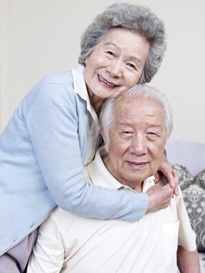 资深亚洲夫妇 库存照片