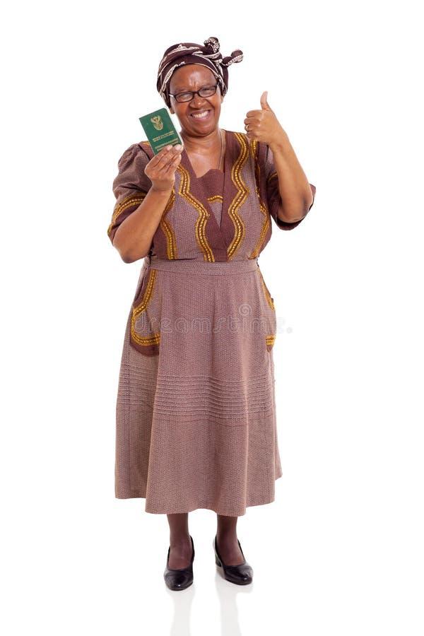 资深南非妇女ID书 免版税库存照片