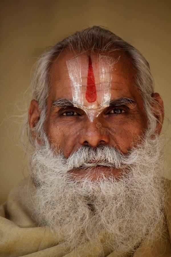 资深印地安人,画象 免版税图库摄影