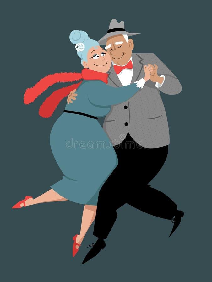 资深夫妇跳舞探戈 皇族释放例证