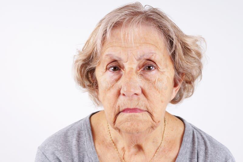 资深妇女面孔 免版税库存照片