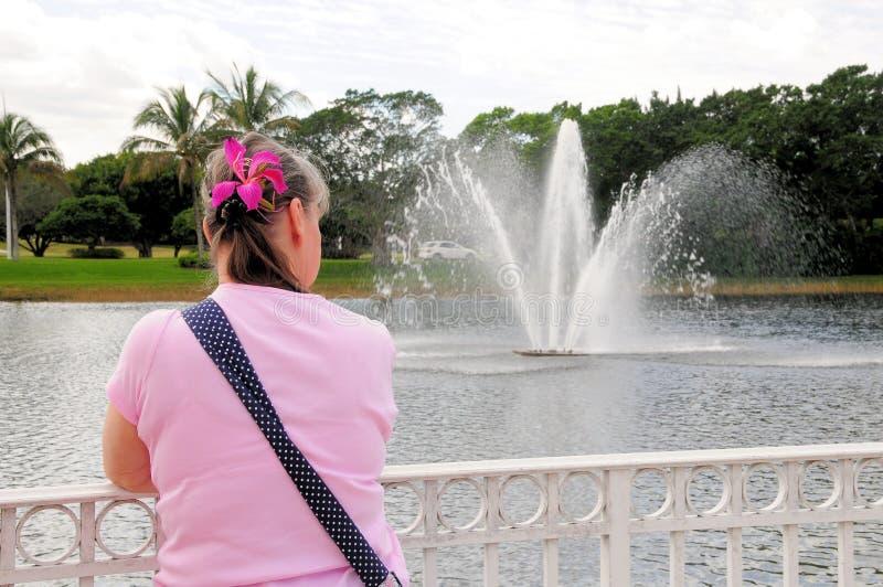 资深妇女,佛罗里达 图库摄影