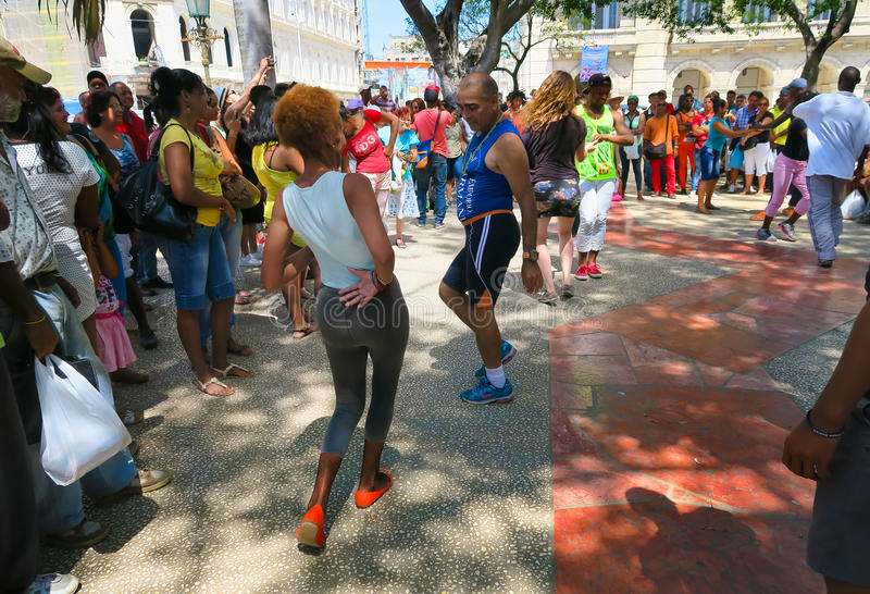 资深街道辣调味汁在哈瓦那 免版税库存图片