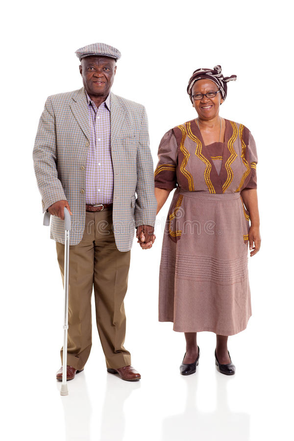 资深非洲夫妇 免版税库存照片