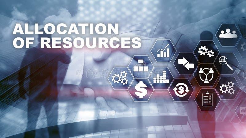 资源分配概念 战略计划 混合画法 抽象背景商业 财政技术和 免版税库存图片