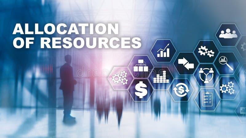 资源分配概念 战略计划 混合画法 抽象背景商业 财政技术和 免版税库存照片