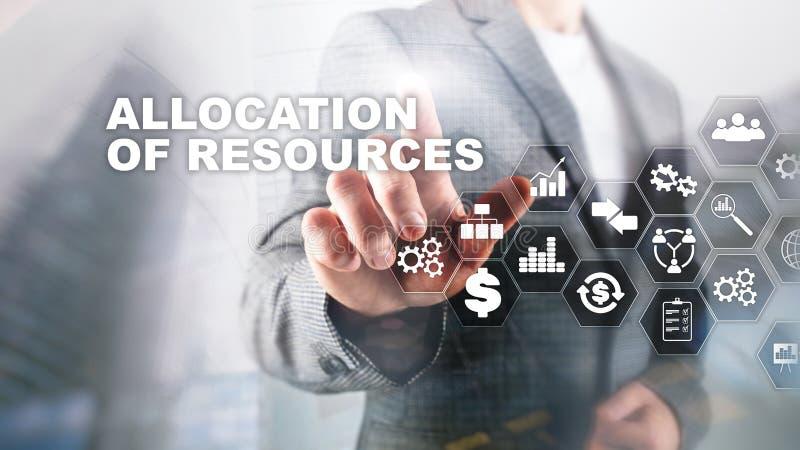 资源分配概念 E r E 财政技术和 库存图片