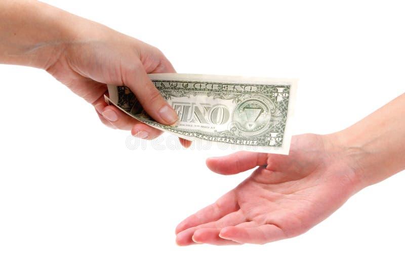 赊帐帮助货币 免版税库存图片