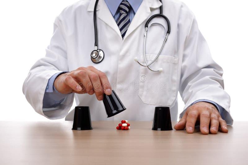赌博与医疗保健 免版税库存图片