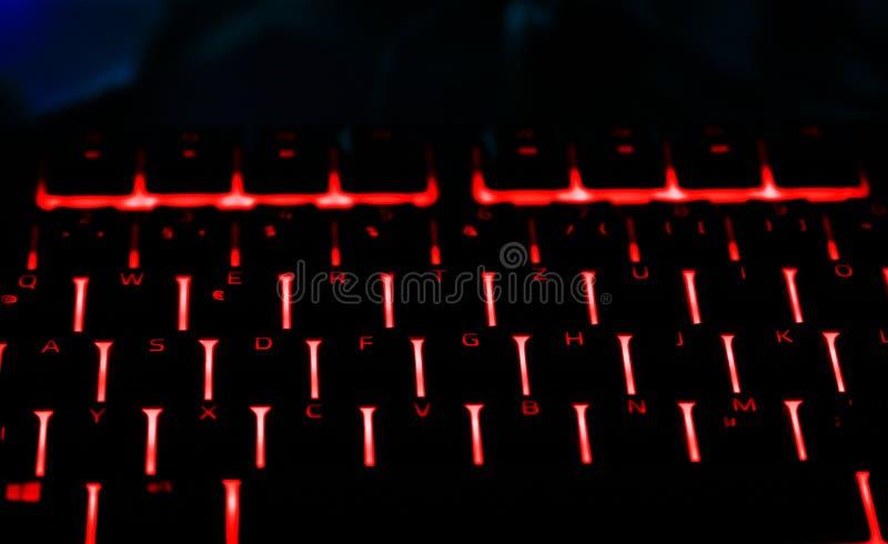 赌博个人计算机的有启发性键盘 免版税库存照片