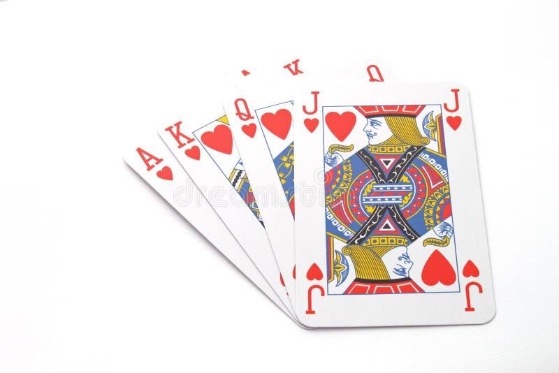赌博使用的看板卡 免版税库存图片