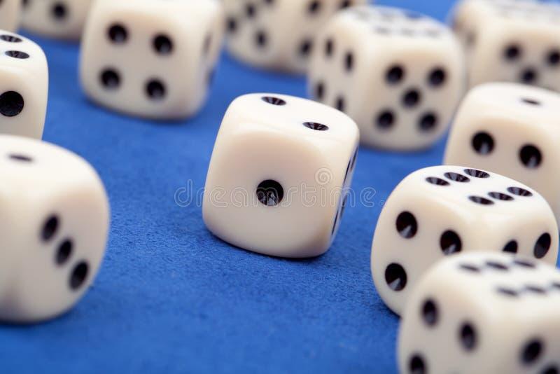赌博切成小方块 库存照片