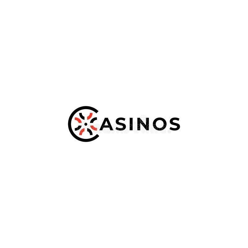 赌博娱乐场传染媒介商标设计元素 赌博娱乐场传染媒介象 向量例证