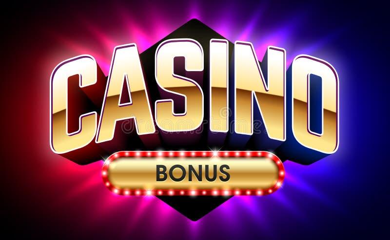 赌博娱乐场受欢迎的奖金横幅 库存例证