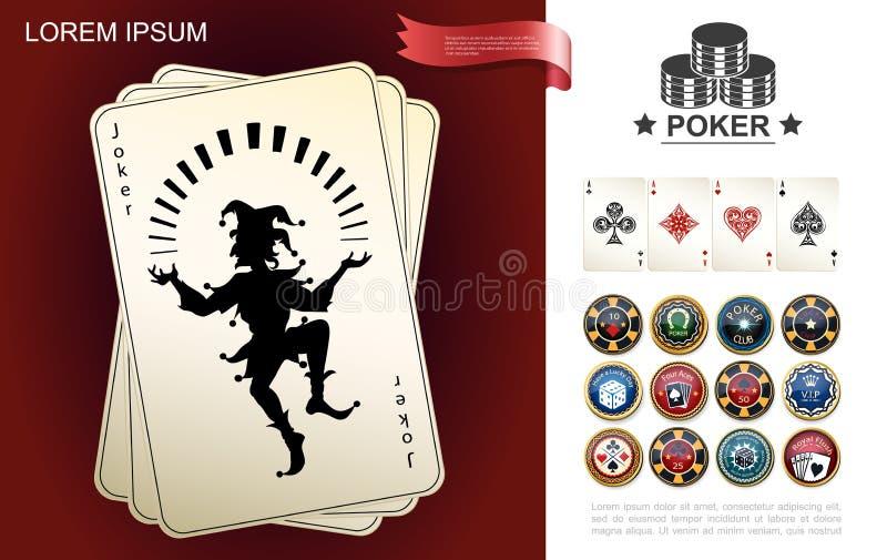 赌博娱乐场和赌博的构成 向量例证