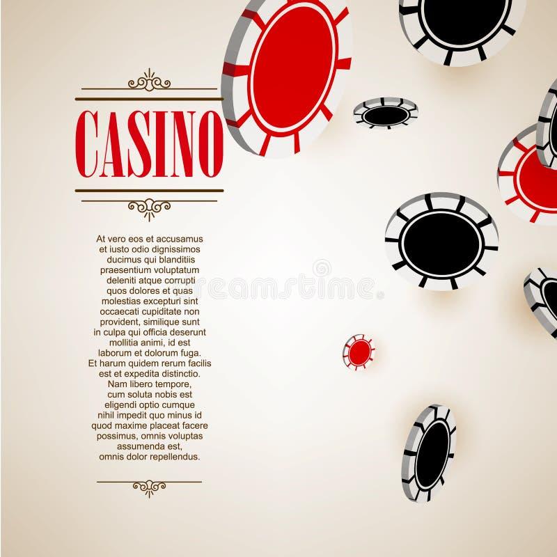 赌博娱乐场商标海报背景或飞行物 库存例证