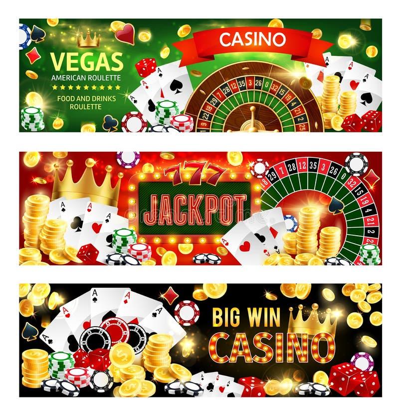 赌博娱乐场啤牌抓阄转轮模子,赌博比赛 向量例证