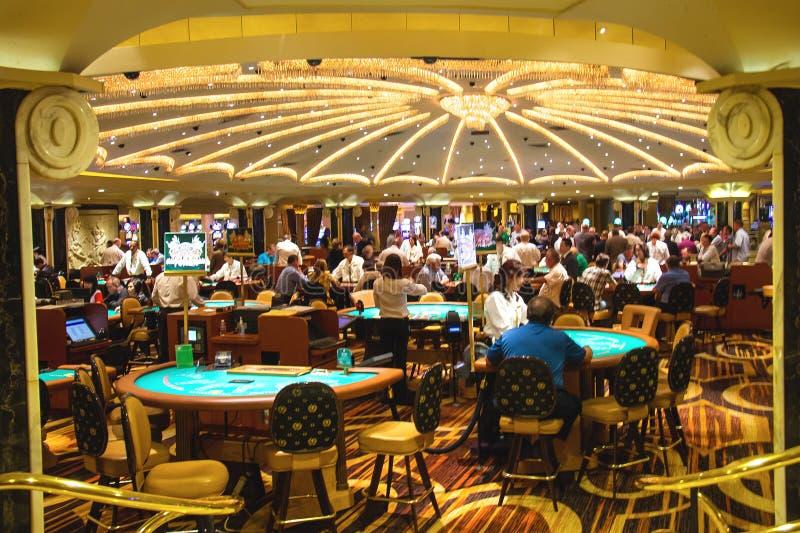 赌博娱乐场在凯撒宫中在拉斯维加斯 库存照片