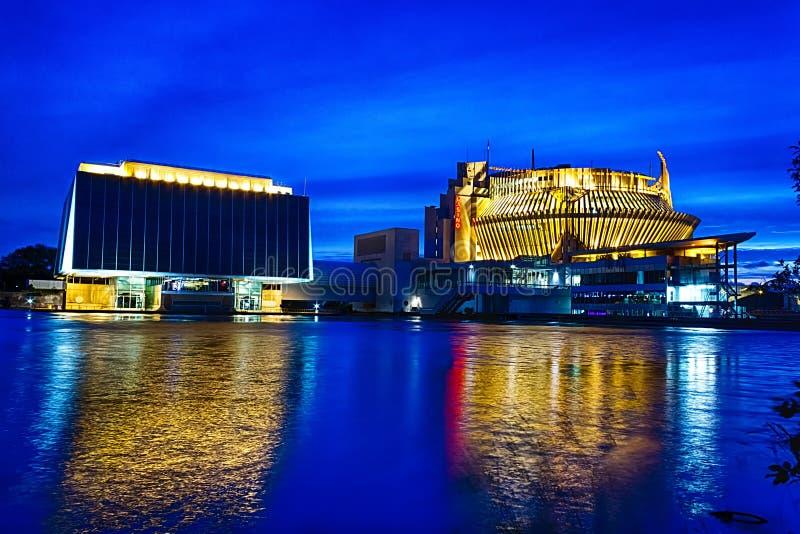 赌博娱乐场在夜之前 库存照片
