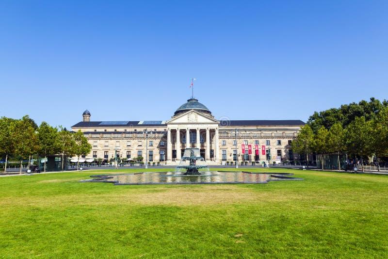 赌博娱乐场在威斯巴登/德国 免版税库存图片