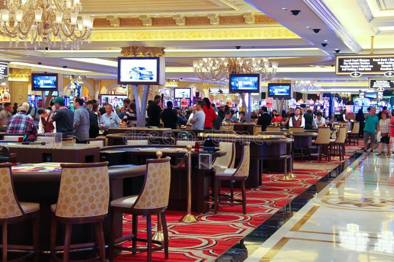 赌博娱乐场在Palazzo旅馆里在拉斯维加斯 免版税库存照片