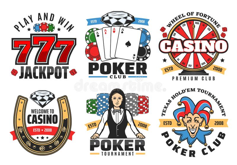 赌博娱乐场扑克牌游戏,困境赌博的传染媒介象 皇族释放例证