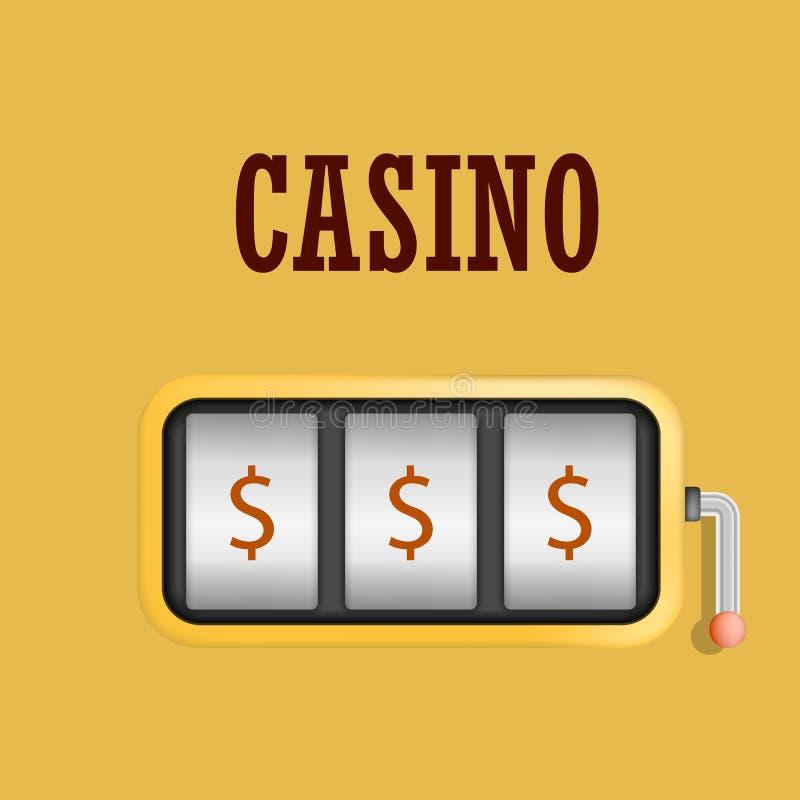 赌博娱乐场机器槽孔概念背景,现实样式 向量例证