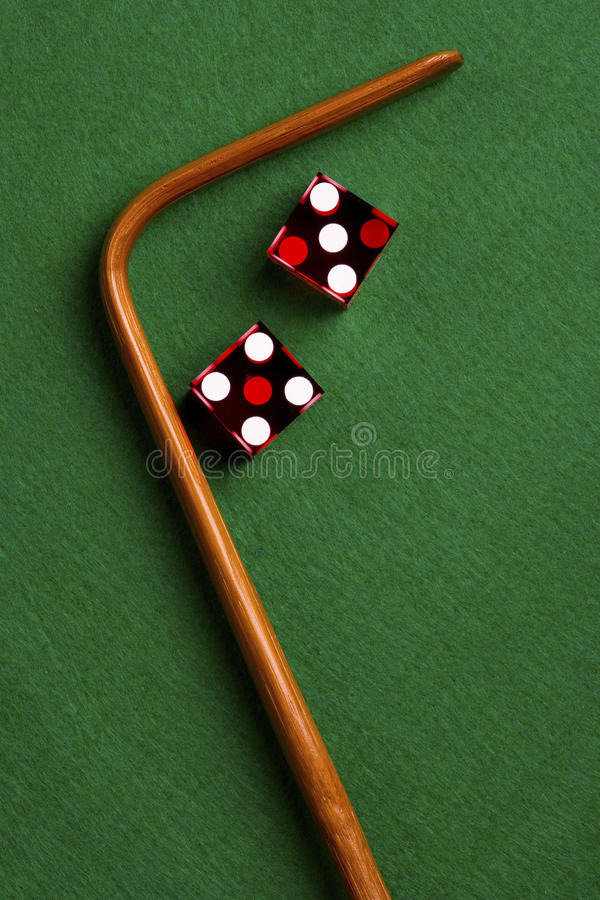 赌博娱乐场模子和棍子 库存照片