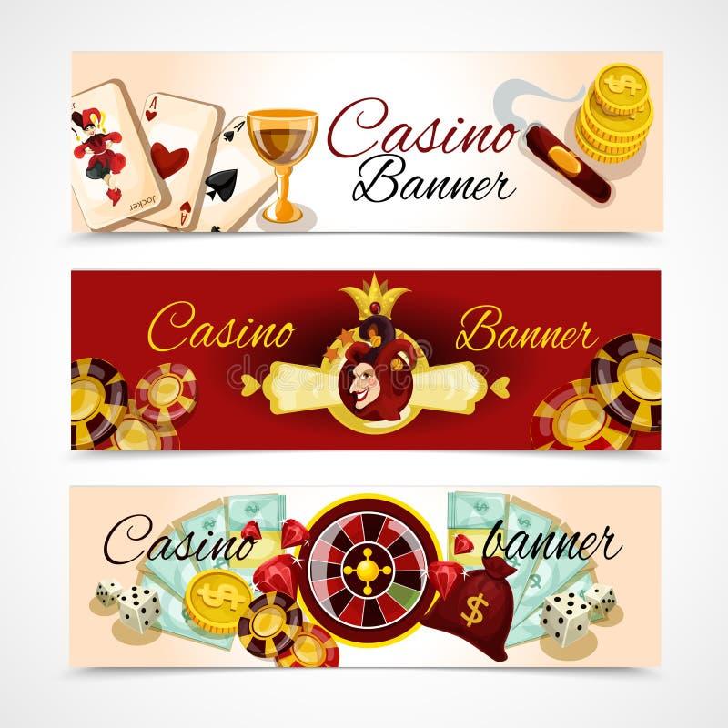 赌博娱乐场横幅集合 向量例证