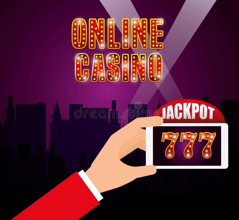 赌博娱乐场游戏设计 库存例证