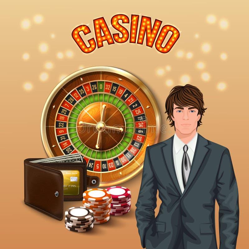 赌博娱乐场现实构成的人 皇族释放例证