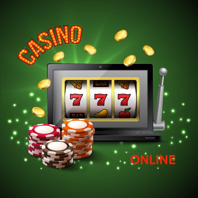 赌博娱乐场现实构成 库存例证