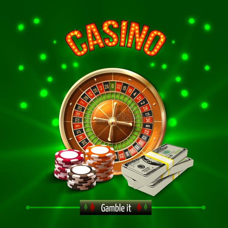 赌博娱乐场现实概念 向量例证