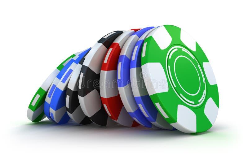 赌博娱乐场的筹码 库存例证