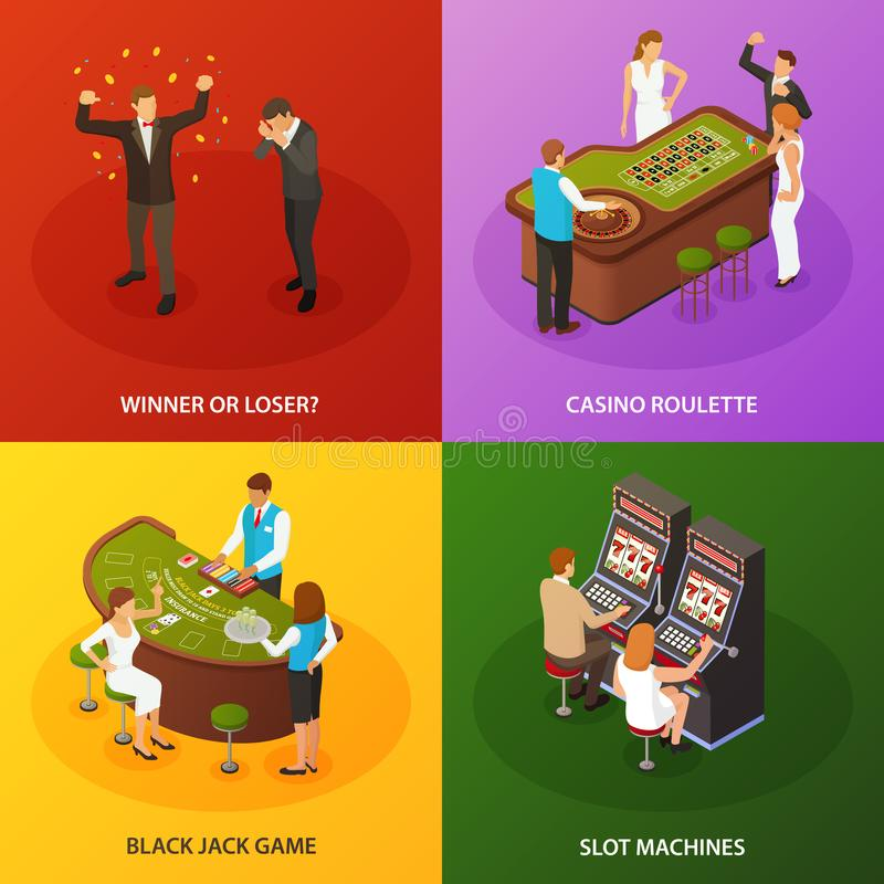 赌博娱乐场等量构思设计 库存例证