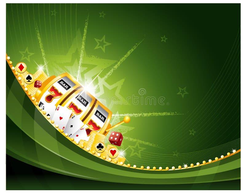 赌博娱乐场老虎机背景 皇族释放例证