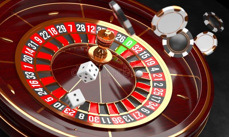 赌博娱乐场背景 在黑背景的豪华赌博娱乐场轮盘赌的赌轮 赌博娱乐场题材 与a的特写镜头白色赌博娱乐场轮盘赌 库存例证