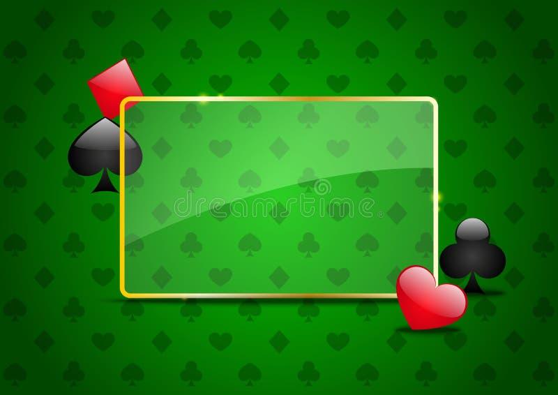 赌博娱乐场背景 向量例证
