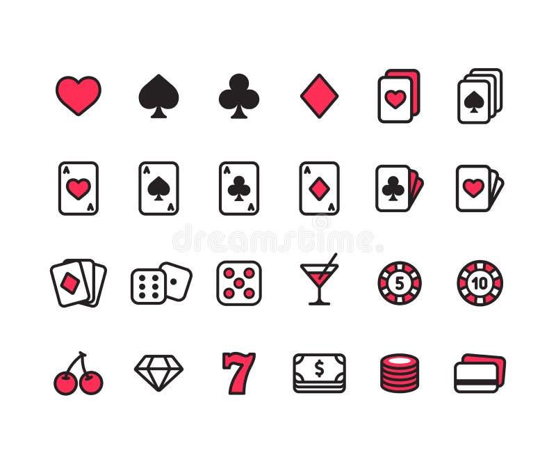 赌博娱乐场象集合 库存例证