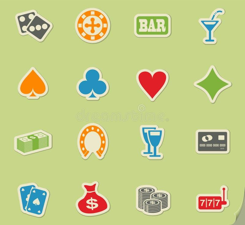 赌博娱乐场象集合 向量例证
