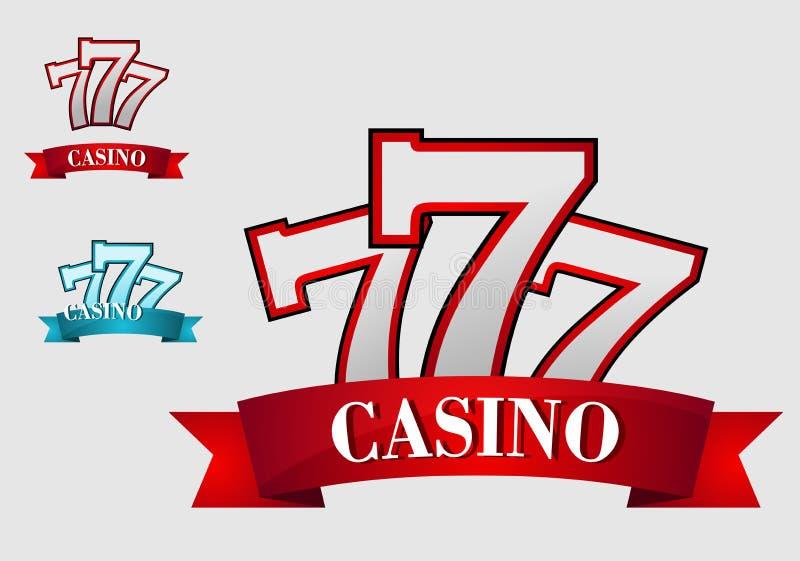 赌博娱乐场赌博的标志 库存例证