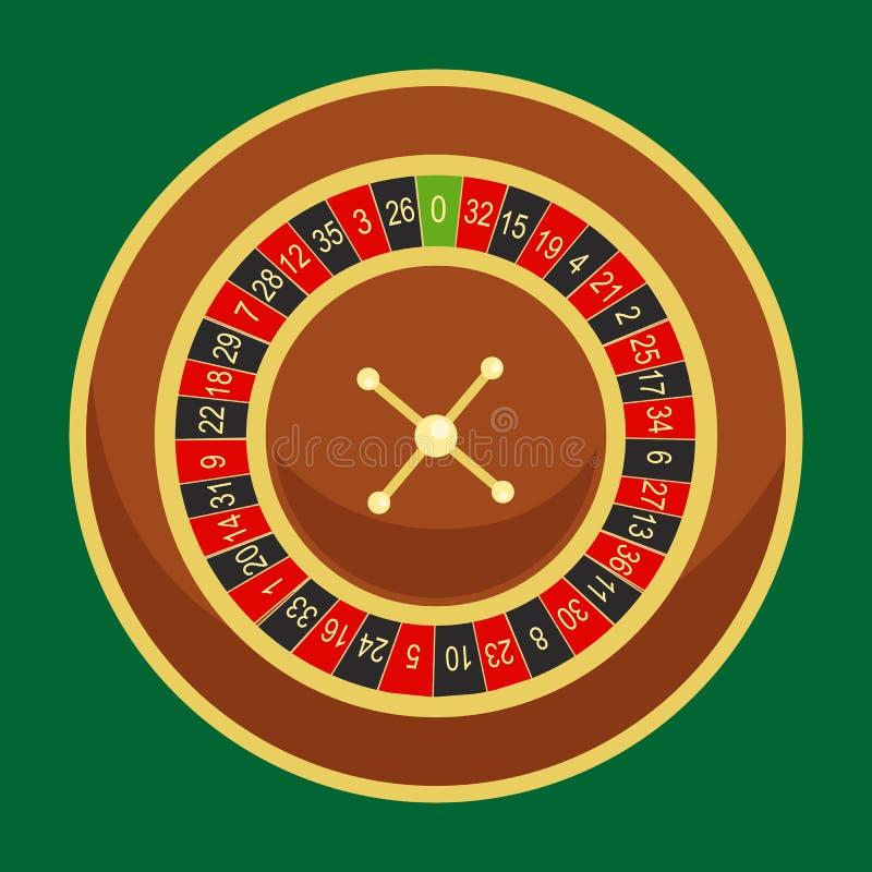 赌博娱乐场轮盘赌的赌轮为风险比赛在维加斯,幸运的赌博的时运,在打赌的戏剧去在周围机会的在胜利 皇族释放例证