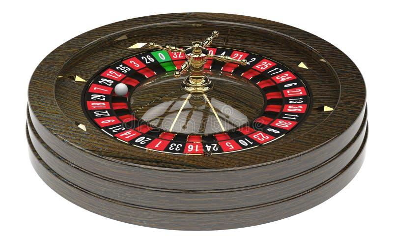 赌博娱乐场轮盘赌的赌轮 向量例证